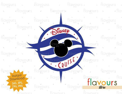 Disney Compass - Disney Cruise - SVG Cut File - FlavoursStore