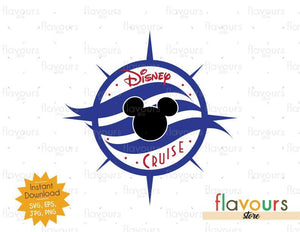 Disney Compass - Disney Cruise - SVG Cut File
