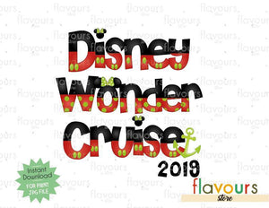 Disney Wonder Christmas Cruise 2019 - Cruise Trip - Digital Files Printables