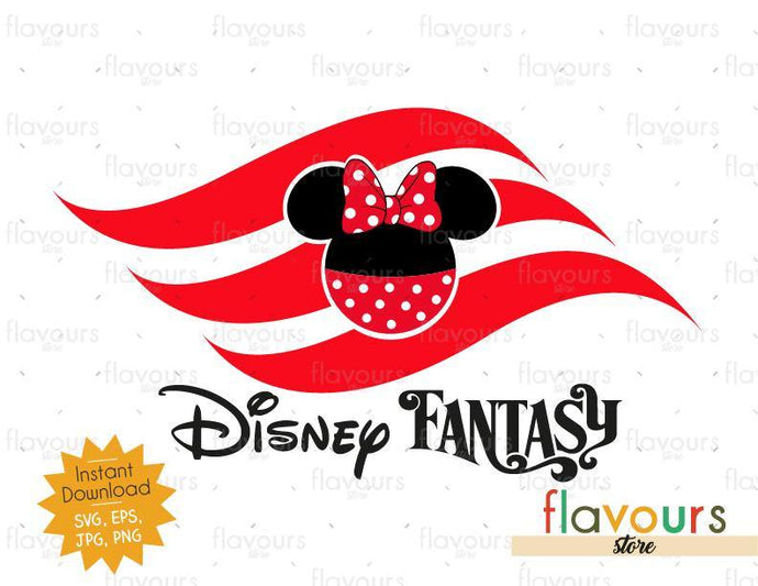 Disney Fantasy Flag Minnie - Instant Download - SVG Cut File - FlavoursStore