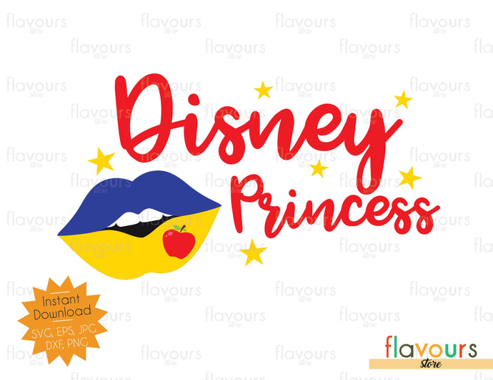 Disney Princess - Snow White Kiss - SVG Cut File