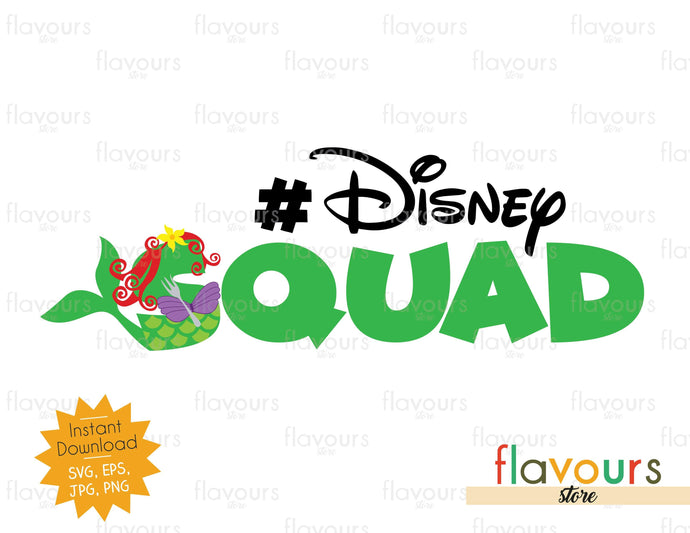 Disney Squad - Ariel Inspired - Instant Download - SVG File - FlavoursStore