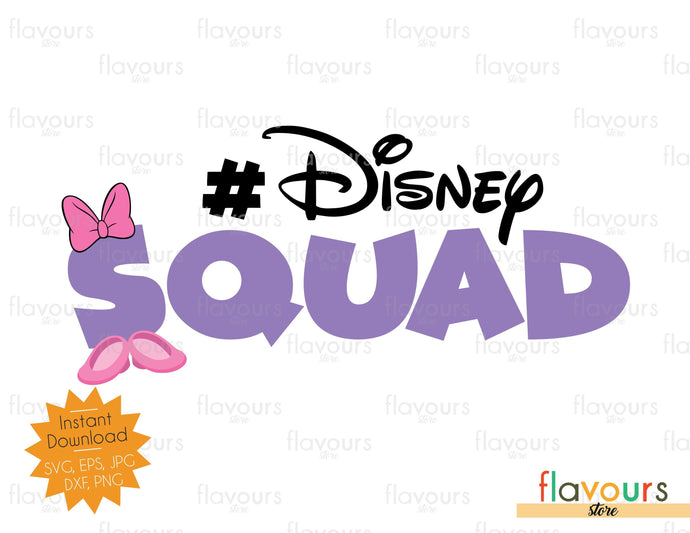 Disney Squad - Daisy Duck Inspired - Instant Download - SVG Files