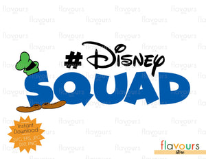 Disney Squad - Goofy Inspired - Instant Download - SVG Files