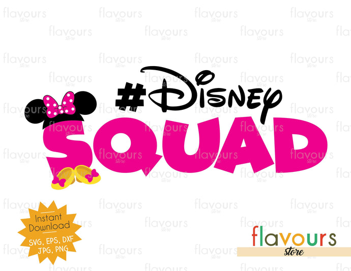 Disney Squad - Minnie Inspired - Instant Download - SVG Files