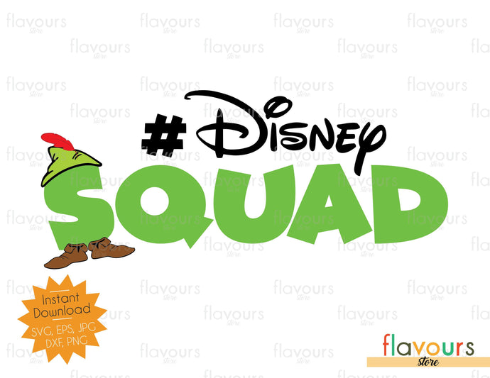 Disney Squad - Peter Pan Inspired - Instant Download - SVG Files