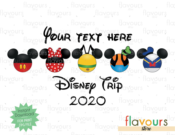 Disney Trip - Mickey Mouse Club - Digital Files Printables