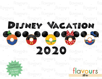 Disney Vacation - Mickey Mouse Club Donuts - Digital Files Printables