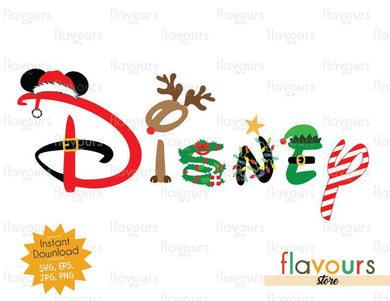 Disney Christmas Logo - SVG Cut File