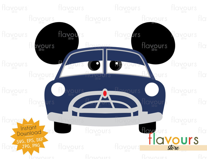 Doc Hudson Ears - Cars - SVG File