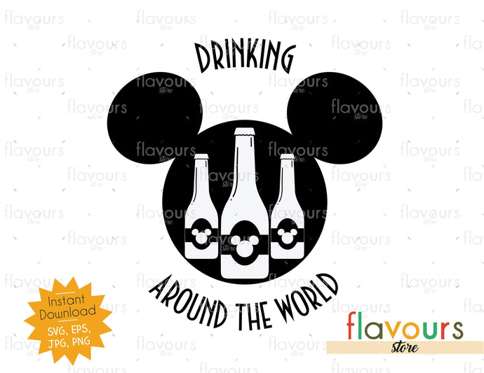 Drinking around the world - Disney Epcot - SVG Cut File
