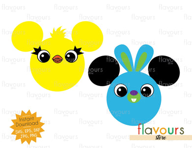 Ducky and Bunny Ears - Toy Story - SVG File - FlavoursStore