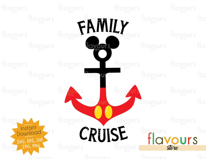 Family Cruise - Instant Download - SVG Cut File