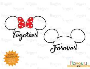 Disney Together Forever - SVG Cut File