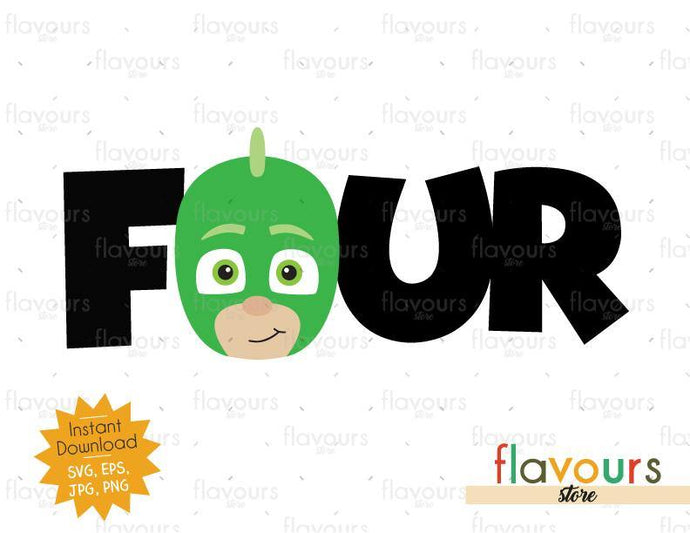Four - Gekko - Pj Mask - Instant Download - SVG FILES