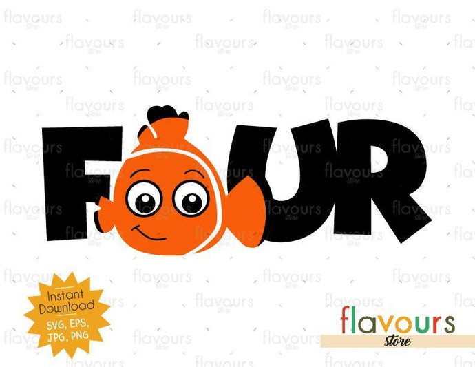 Four - Nemo - Instant Download - SVG FILES - FlavoursStore
