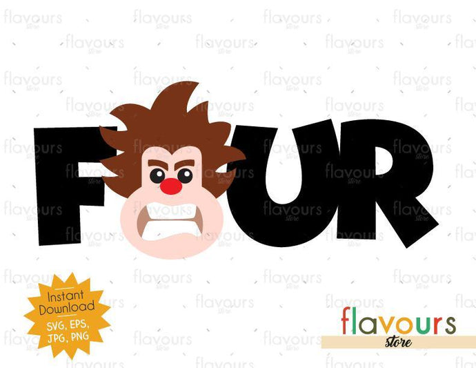 Four - Wreck it Ralph - Instant Download - SVG FILES - FlavoursStore