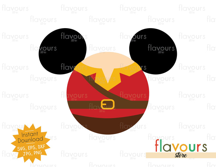 Gaston Ears - Disney Characters - SVG Cut File - FlavoursStore