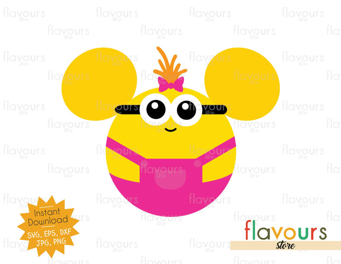 Girl Minion Ears - Minions - SVG Cut File