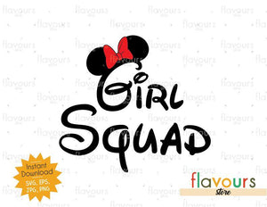 Girl Squad Minnie Ears - Instant Download - Cuttable Design Files