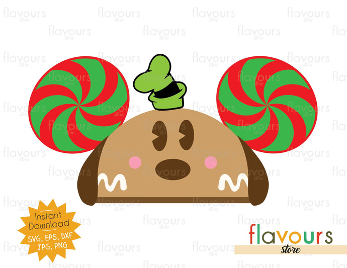 Goofy Gingerbread Hat Ears - SVG Cut File