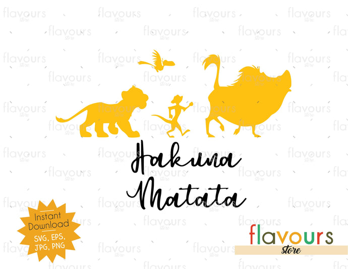 Hakuna Matata - Lion King - SVG Cut File - FlavoursStore