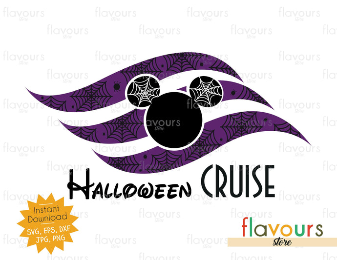 Halloween Cruise Spiders Flag - SVG Cut File - FlavoursStore