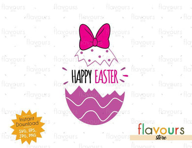 Happy Easter Daisy - Instant Download - SVG Cut File