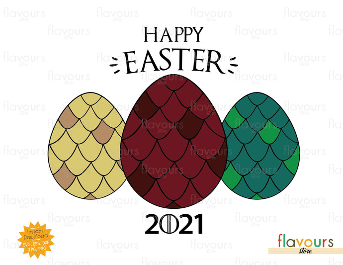 Happy Easter GOT Easter Eggs - Instant Download - SVG Cut File