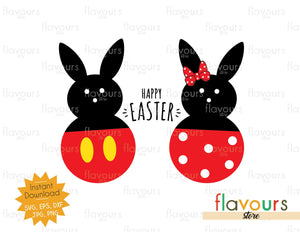 Happy Easter Mickey and Minnie Peep - Instant Download - SVG Cut File