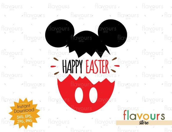 Happy Easter Mickey Easter Egg - SVG Cut File