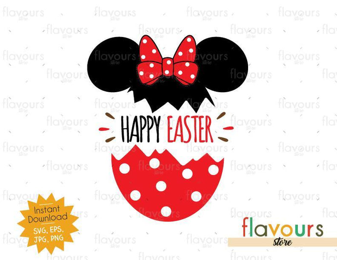 Happy Easter Minnie Easter Egg - Instant Download - SVG Cut File