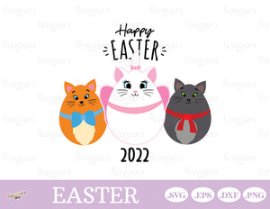 Happy Easter - The Aristocats Easter Eggs - Instant Download - SVG Cut File