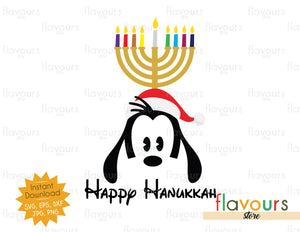 Happy Hanukkah Goofy - SVG Cut File