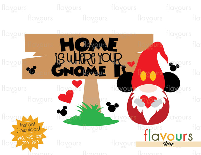 Home is Where your Gnome Is - SVG Cut File