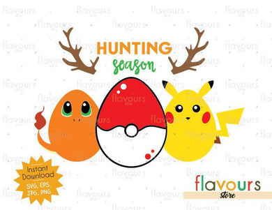 Hunting Season Pokemon - Instant Download - SVG Cut File