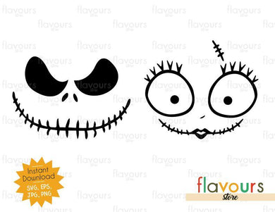 Jack And Sally - Halloween - SVG Cut File