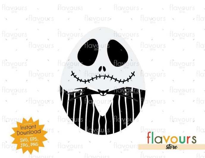 Jack Skellington Easter Egg - Instant Download - SVG Cut File