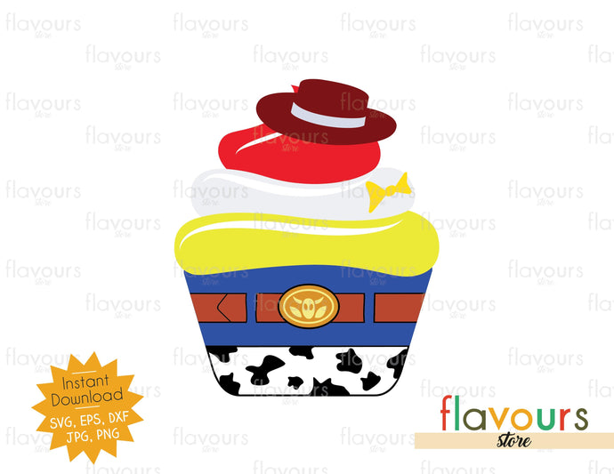 Jessie Cupcake - Toy Story - SVG Cut File