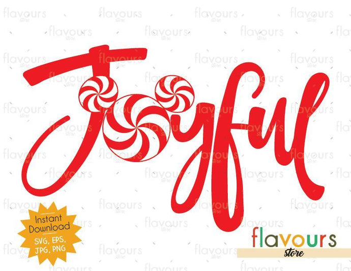 Joyful Mickey Peppermint - SVG Cut File
