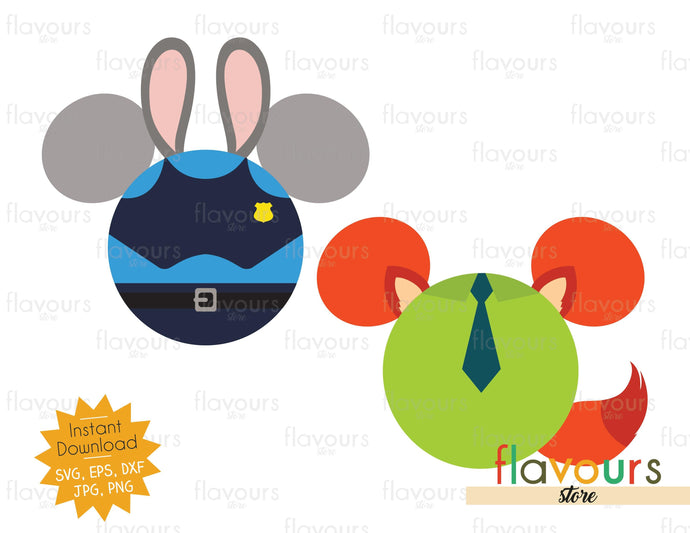 Judy Hopps and Nick Wilde Ears - Zootopia - SVG File