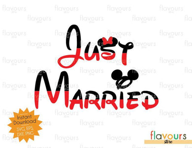 Just Married - Mickey Inspired - SVG Cut File