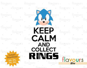 Keep Calm and Collect Rings - SVG Cut File