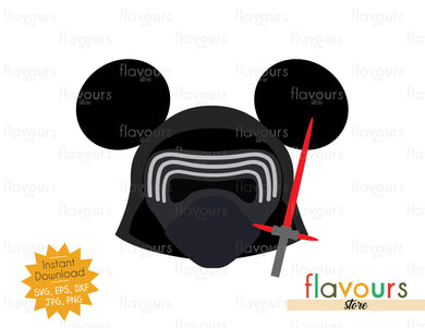 Kylo Ren Ears - Star Wars - Cuttable Design Files