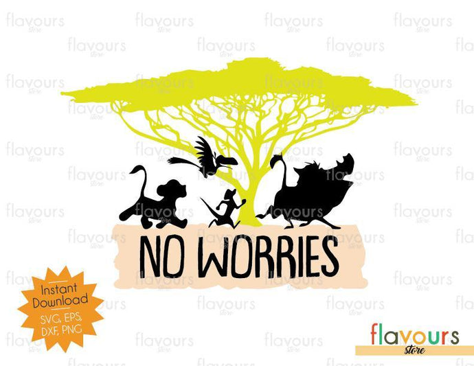 No Worries - Tree Of Life - Lion King - Disney - Cuttable Design Files (SVG, EPS, JPG, PNG) For Silhouette and Cricut