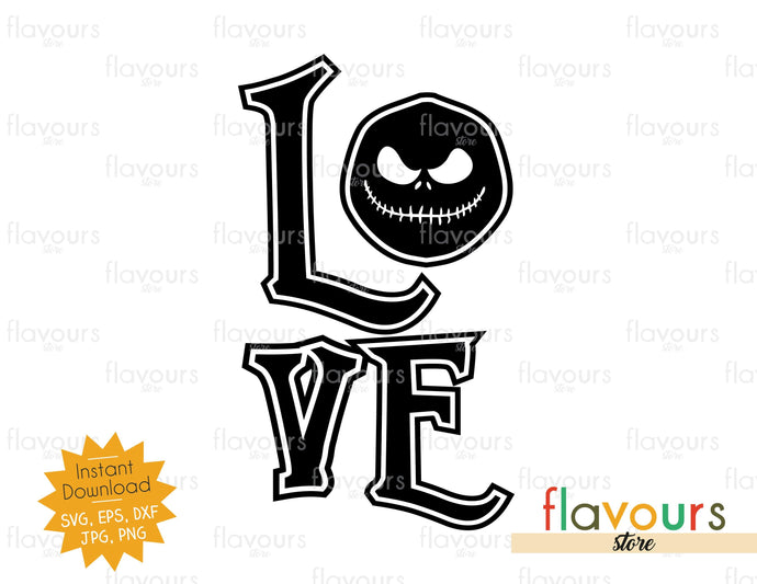 Love - Jack - Halloween - SVG Cut File