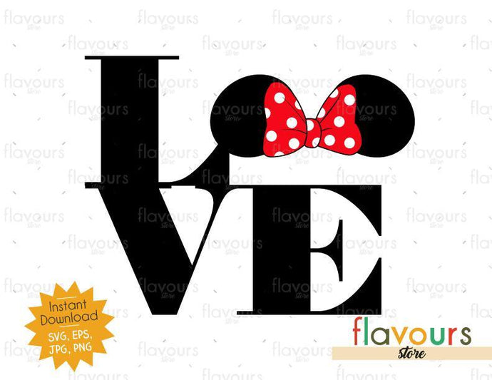 Love Minnie Ears - Instant Download - SVG Cut File