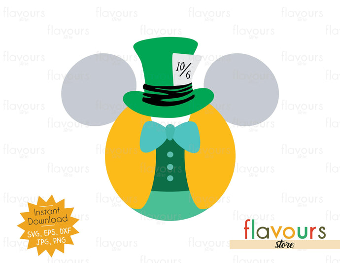 Mad Hatter Ears - SVG Cut File
