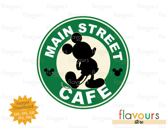 Main Street Cafe  - SVG Cut File - FlavoursStore