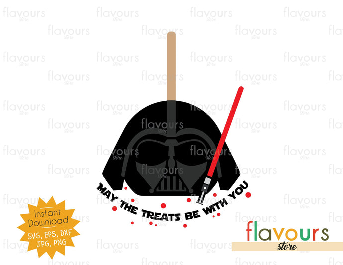 May The Treats Be With You - Darth Vader - SVG Cut File